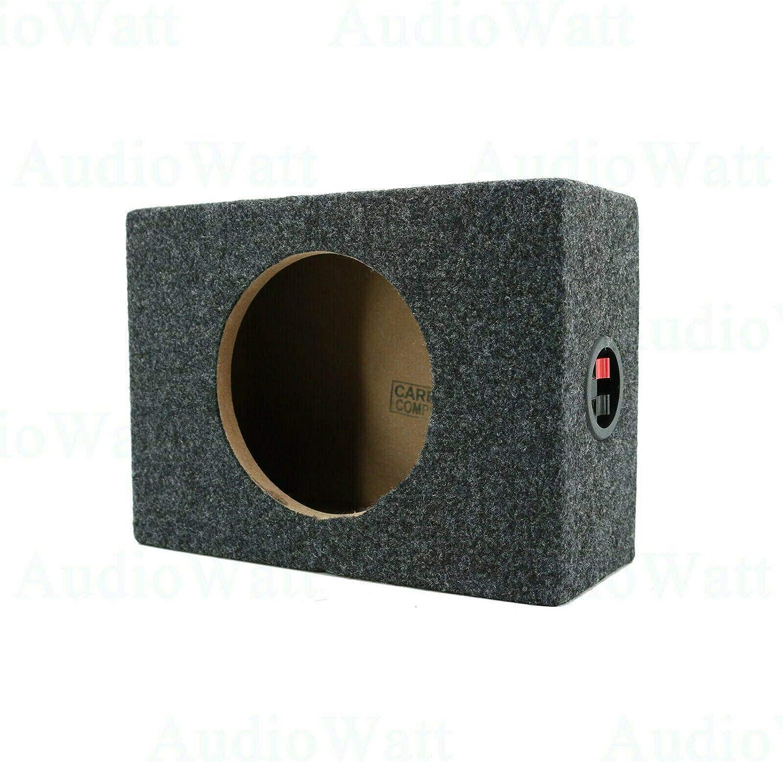 Pair Inch Vented Speaker Box Enclosure Carpet Texture Terminal Cup Product for Great Audio Medium-Density Fibreboard Sturdy Construction 2X Audiotek CA-65CB 6.5