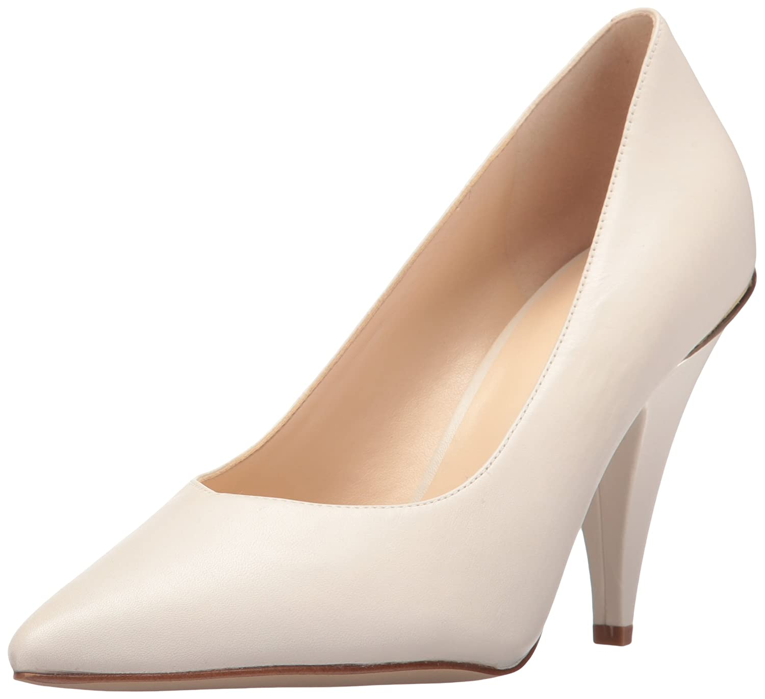 Nine West Women's Whistles Leather Pump B01NCIOE8S 10.5 B(M) US|Off White