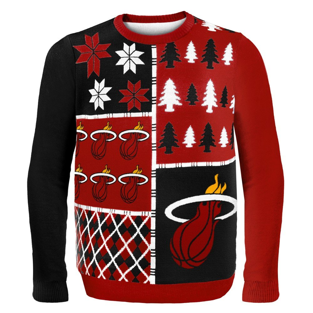 NBA Miami Heat Busy Block Ugly Sweater, X-Large, Red