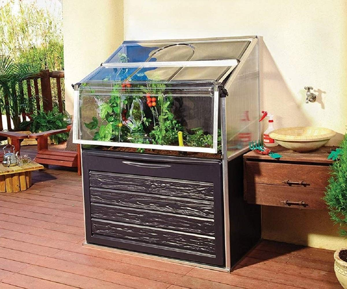 S&M Plant Inn Compact 7220.1001-Invernadero Elevado jardín, Patio ...