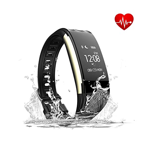 2296ec5793 Toprime Fitness Tracker, App-Enable Impermeabile Bluetooth 4.0 OLED Touch  Screen Smart Wristband,