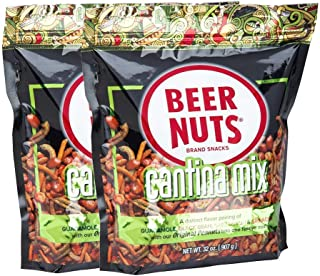 product image for BEER NUTS Cantina Mix - 32 oz. Resealable Bag (Pack of 2), Original Peanuts, Chili Lemon Roasted Corn, Black Bean Sticks, Guacamole Bites