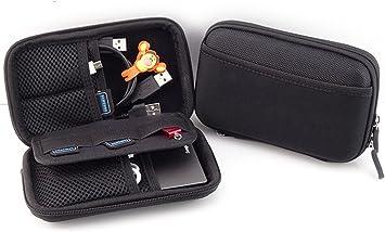 External Optical Hard Drive Storage Case Shockproof Scratchproof Two Way Zipper