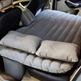 BUYERZONE WITH BZ LOGO Inflatable Travel Car Bed Sofa with 2-Pillow and Air Pump (Multicolour, Standard Size)