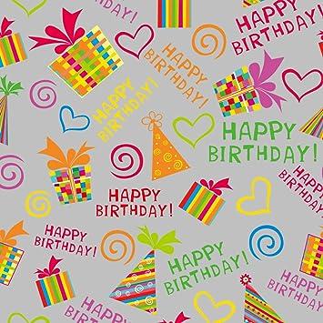 Amazon.com: Fiesta de cumpleaños papel de regalo – 16 ft ...