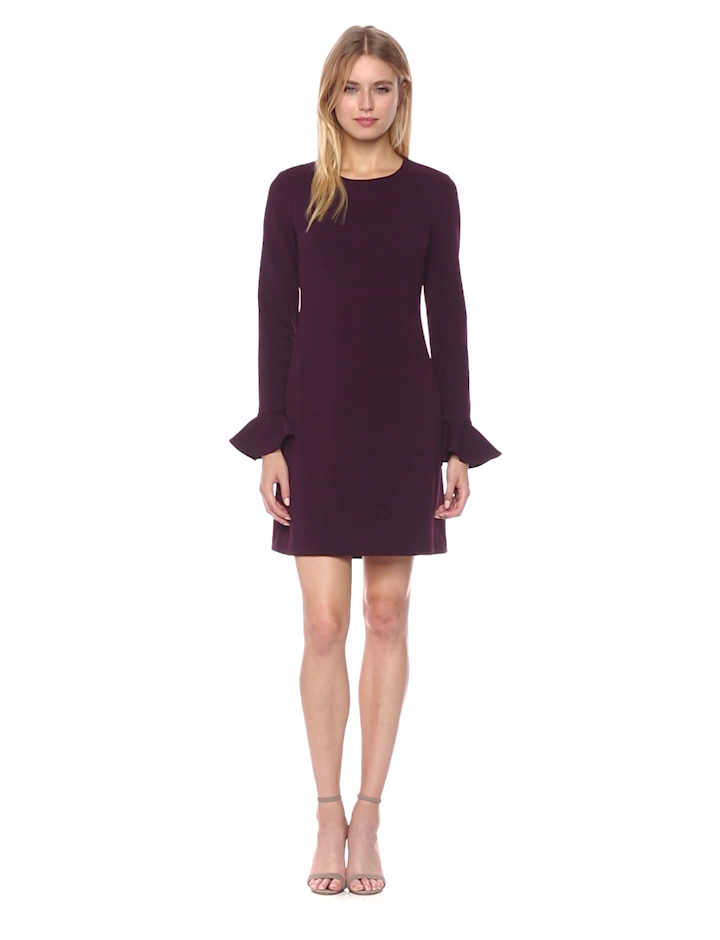 Calvin Klein Womens Long Sleeve Round Neck Sheath Dress at Amazon Womens Clothing store: