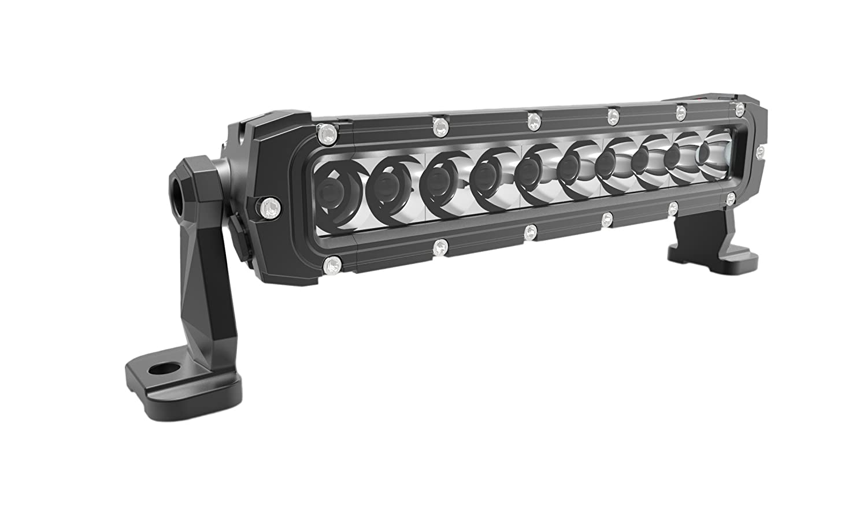 Plasmaglow 14010-10F Predator White//Clear 10 Off-Road LED Floodlight Bar