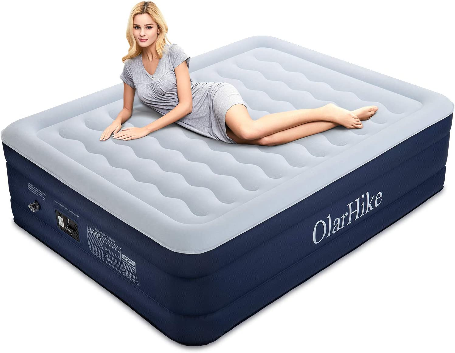 Amazon.com: Colchón de aire OlarHike con bomba incorporada ...