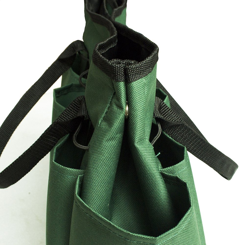 Graden Tool Bag Shoulder Strap Has Pockets Tool Storage Organiser, Can Fit Long Screwdrivers Klein Tools Waterproof Oxford Fabric Multi Pocket Bag for Tools Toolkits (34.317.230.5 CM, Army Green) by KASOS (Image #8)
