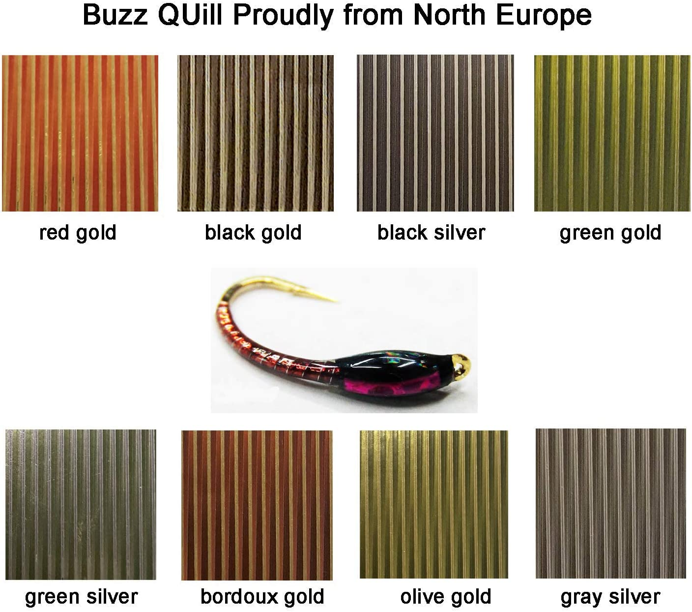 QUILL BODY 10 Packs 10 Colors Combo fly tying lot