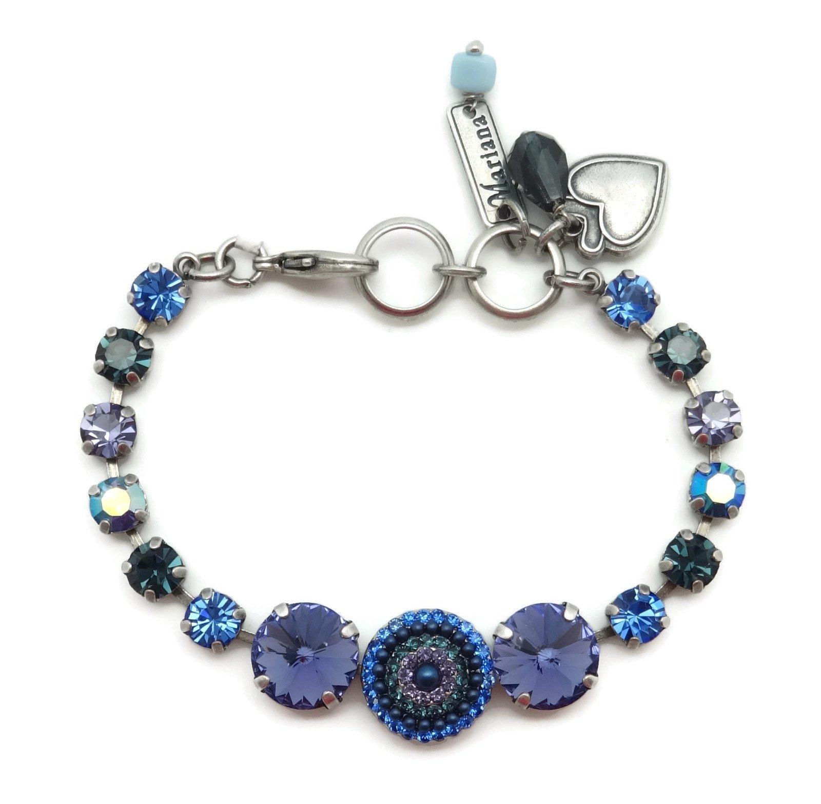 Mariana Silver Plated Swarovski Crystal Bracelet Rivoli Purple Circle 1026 Odyssey Electra