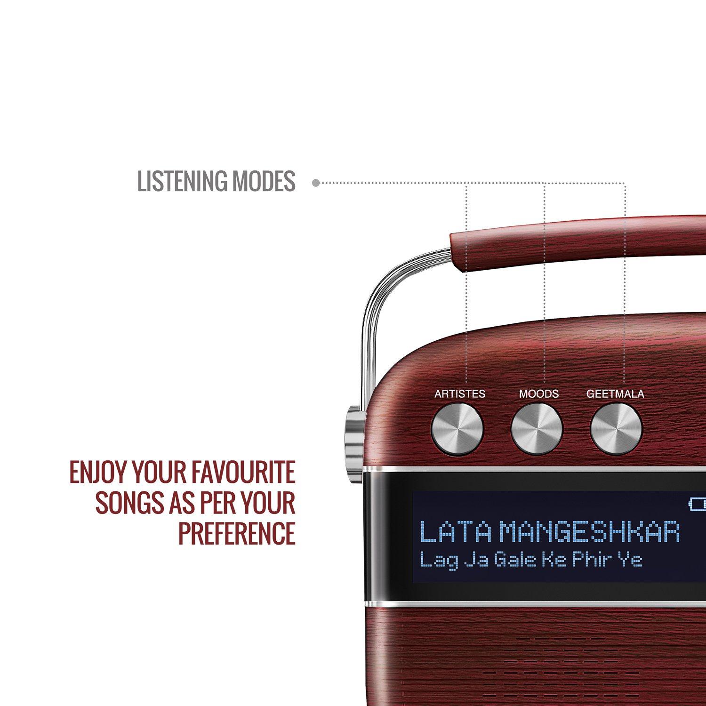 Cherrywood Red Saregama Carvaan Portable Digital Music Player