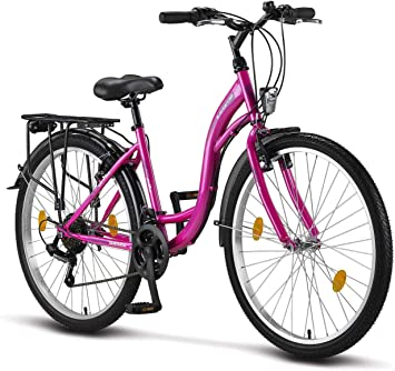 Stella Bicicleta para Mujer, 24,26,28 pulgadas, luz de bicicleta ...