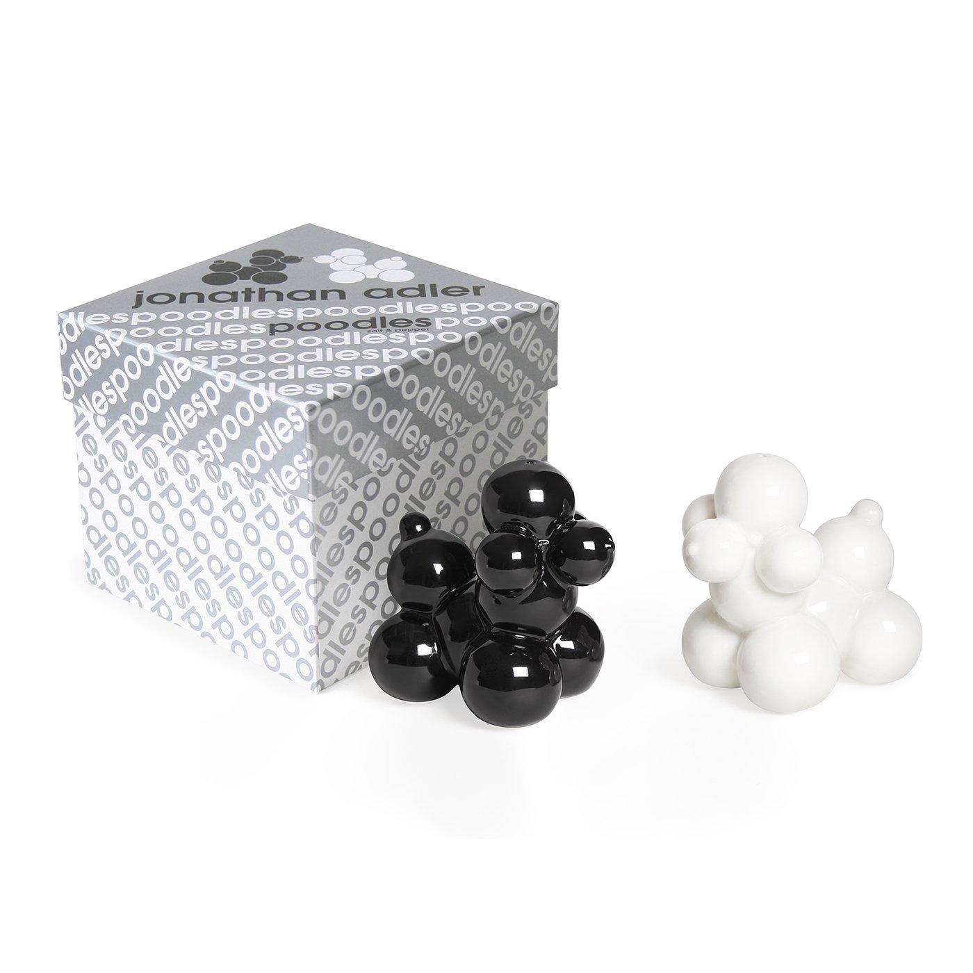 Jonathan Adler Poodles Salt & Pepper Shakers, Black and White by Jonathan Adler