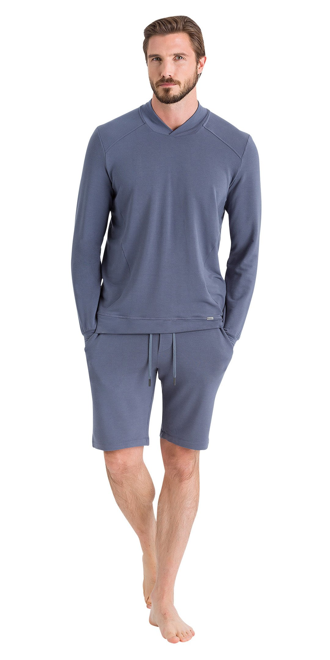 HANRO Men's Living Relax Shorts, Slate Grey, X-Large by HANRO (Image #1)