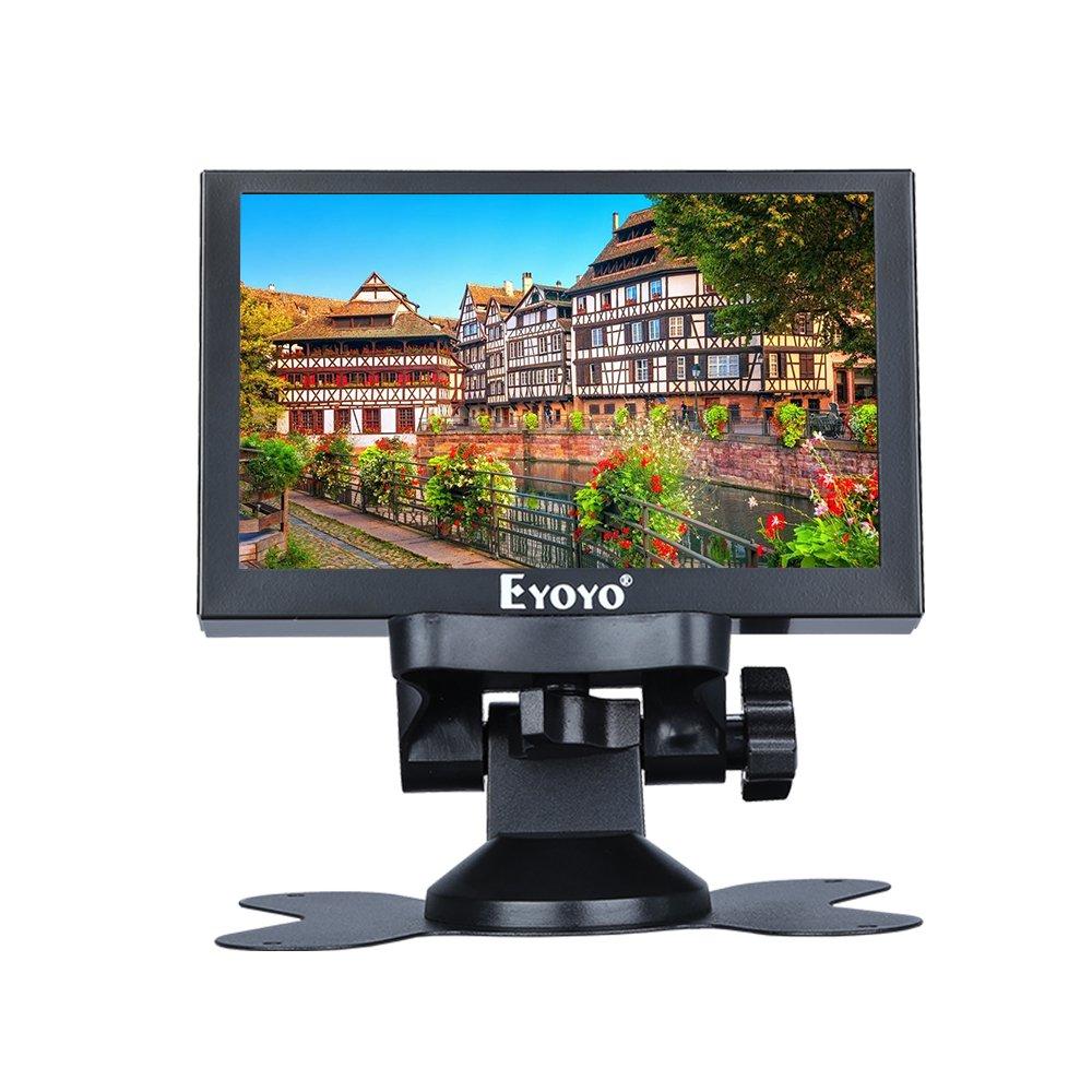 Eyoyo 5 inch Small Mini Monitor 800x480 Resolution Car Rear View TFT LCD Screen Display With HD/VGA/BNC/AV Video Input For PC DVD DVR CCD 140 Degree Wide Angle