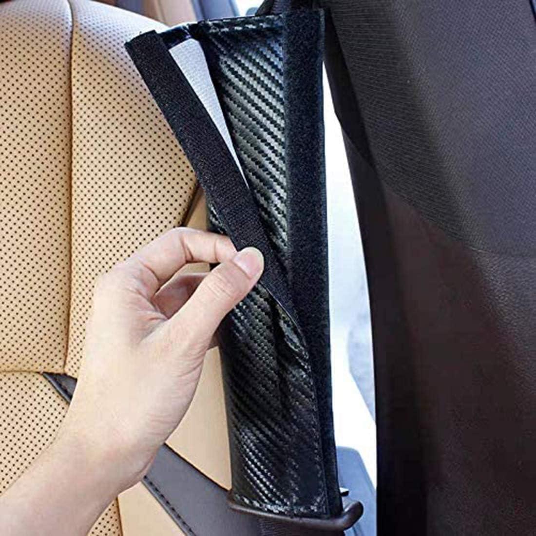 2 Pack Car Seat Belt Pad Cover Carbon Fiber Seat Belt Cover Shoulder Pad Cushion for Toyota C-HR Breathable Car Seat Belt Shoulder Strap for Adults and Children Seat Belt Padding