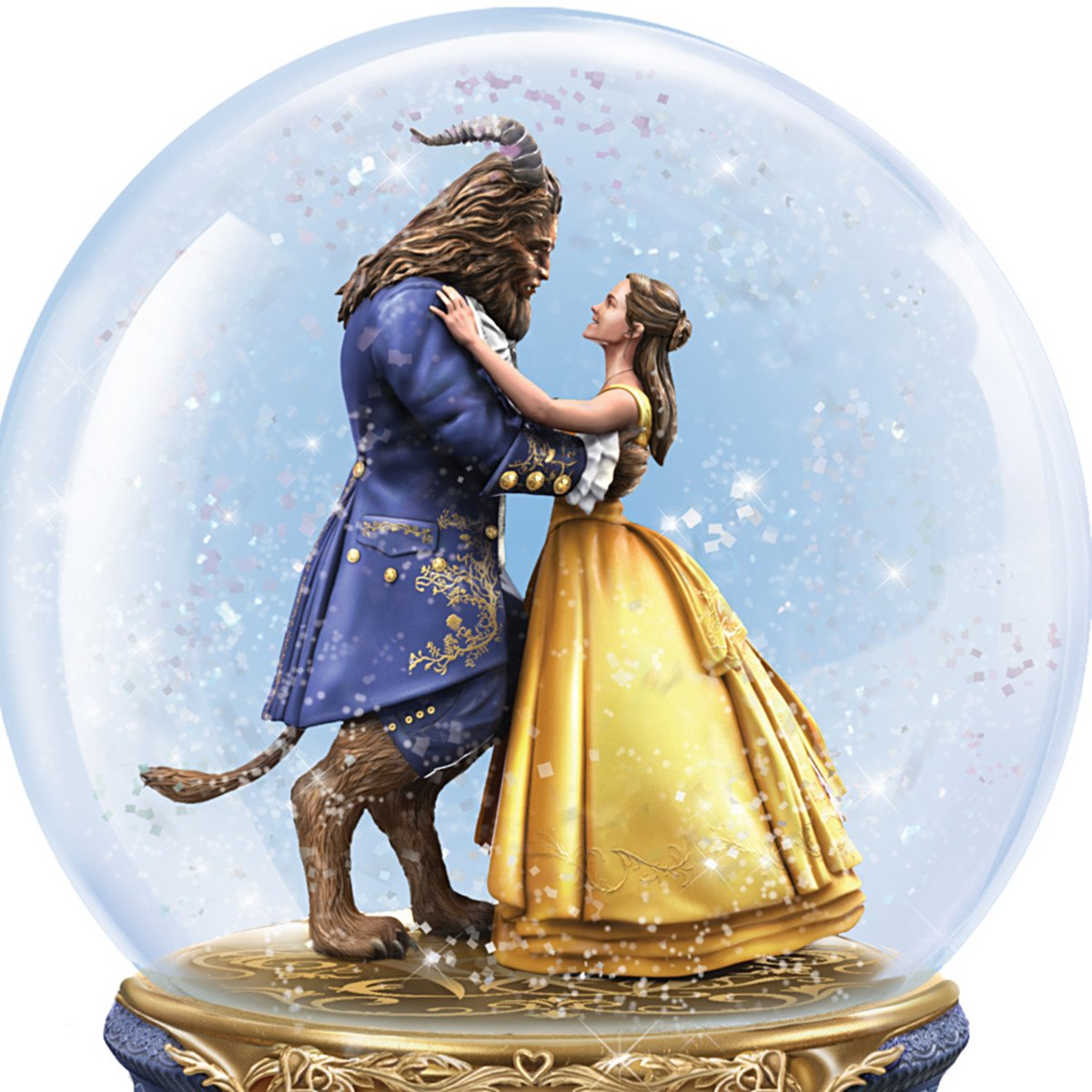 Bradford Exchange The Disney Beauty and the Beast Dance in a Musical Glitter Globe by Bradford Exchange (Image #2)