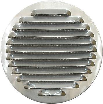 Tapa de Rejilla de Ventilación de Aluminio Circular Ø 150 mm, Rejilla de Ventilación de Campana Extractora, Rejilla de Ventilación de Aluminio Circular con Malla.: Amazon.es: Bricolaje y herramientas