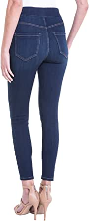 Liverpool Jeans Company Women's Farrah High Waist Pull-on Ankle in Silky Soft Denim - Blue
