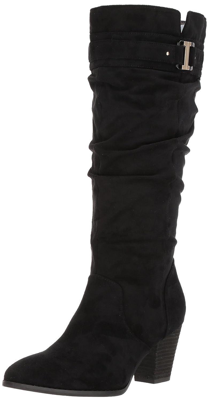 Dr. Scholl's Shoes Women's Devote Wide Calf Riding Boot B06Y46JK98 6.5 B(M) US|Black Microfiber