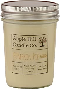 Apple Hill Candle Company Natural Soy Candle - Pumpkin Pie (7 oz.) | 30-40 Hour Burn Time