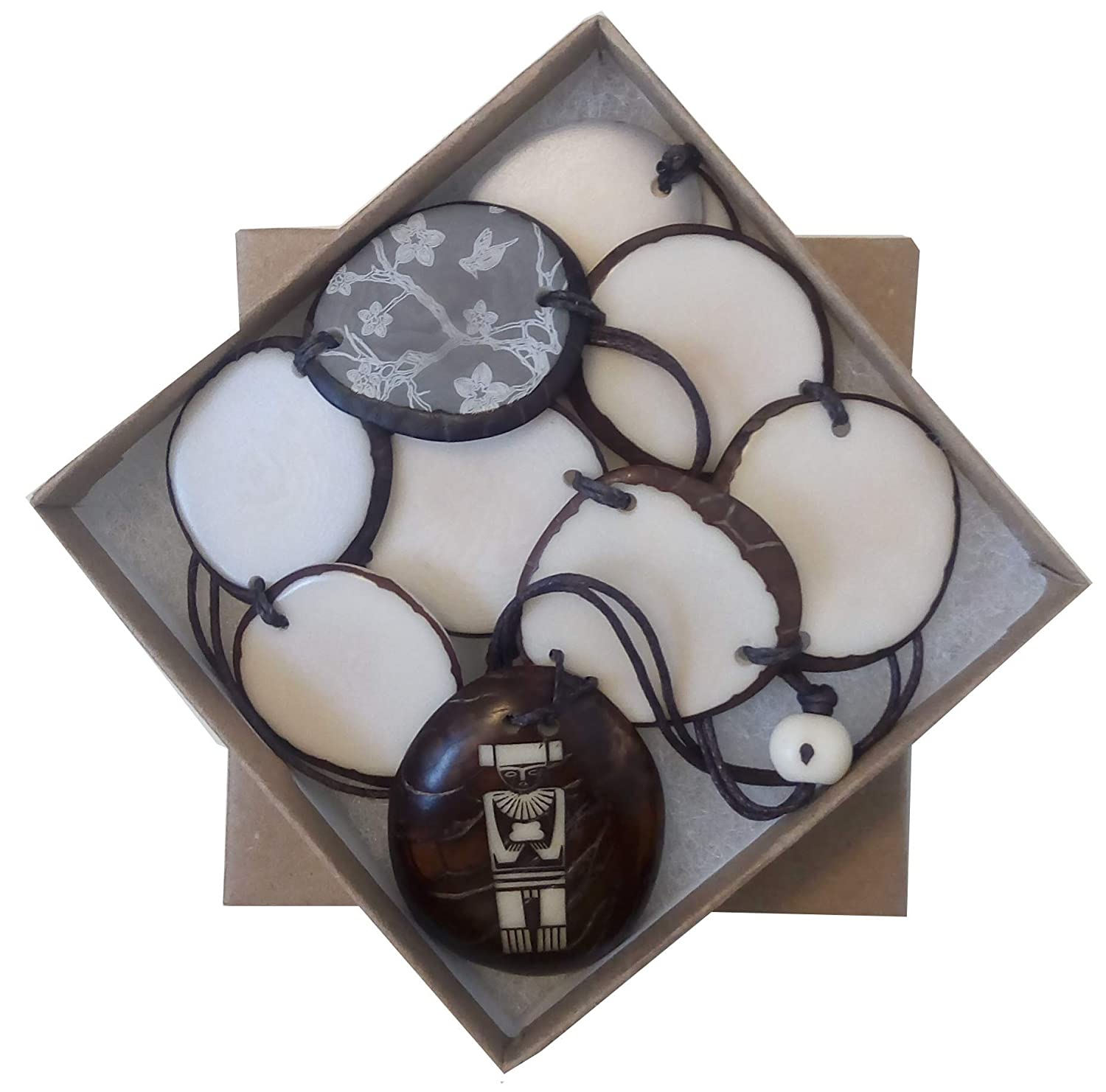 Amazon.com: DAGUA Indigenous Ivory Palm (tagua Seed) Necklace Handmade in Colombia undyed Vegan Cruelty Free (Back to Your Roots): Jewelry