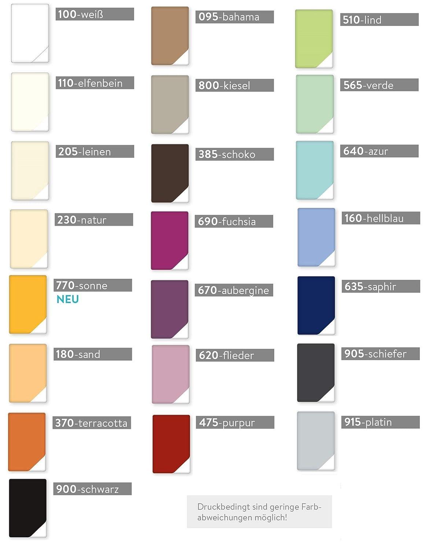 Estella Mako Jersey Kissen Bezug in 25 Uni Farben 40x60 in elfenbein