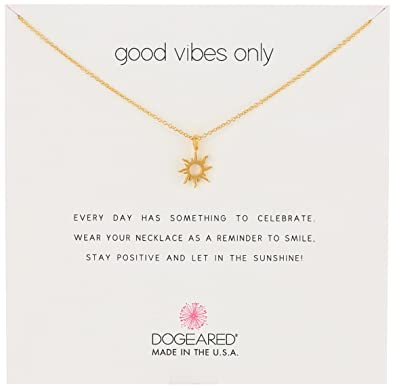 amazon com dogeared reminders good vibes only gold dipped sun