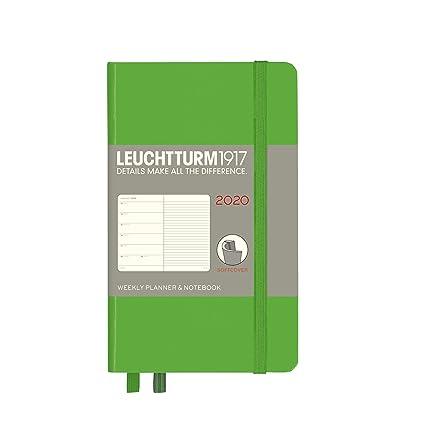 Agenda y cuaderno de notas 2020, tapa blanda, tamaño A6, 12 ...