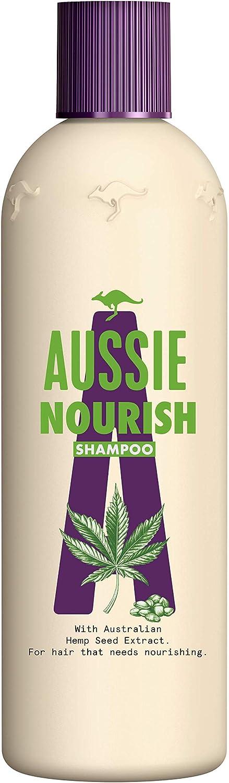 Aussie Nourish Champú 300 ml, Champú Nutrición, Para Pelo Que Necesita Nutrición
