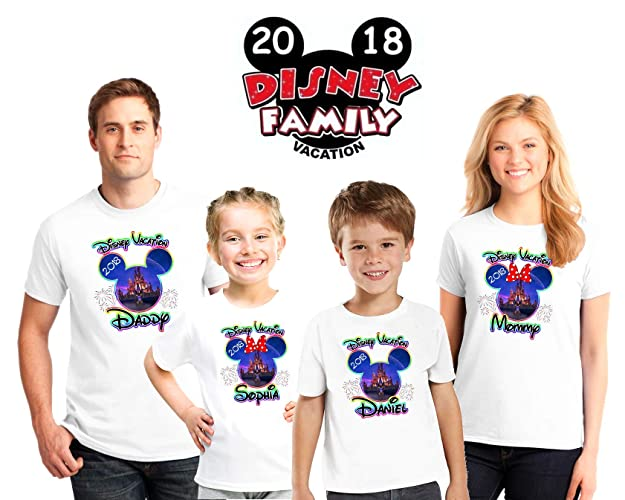 177e71089 Disney World 2018 Family Vacation Personalized matching shirts, Family  vacation Disney shirts,Mickey Minnie mouse Personalized shirt, Personalized  Disney ...