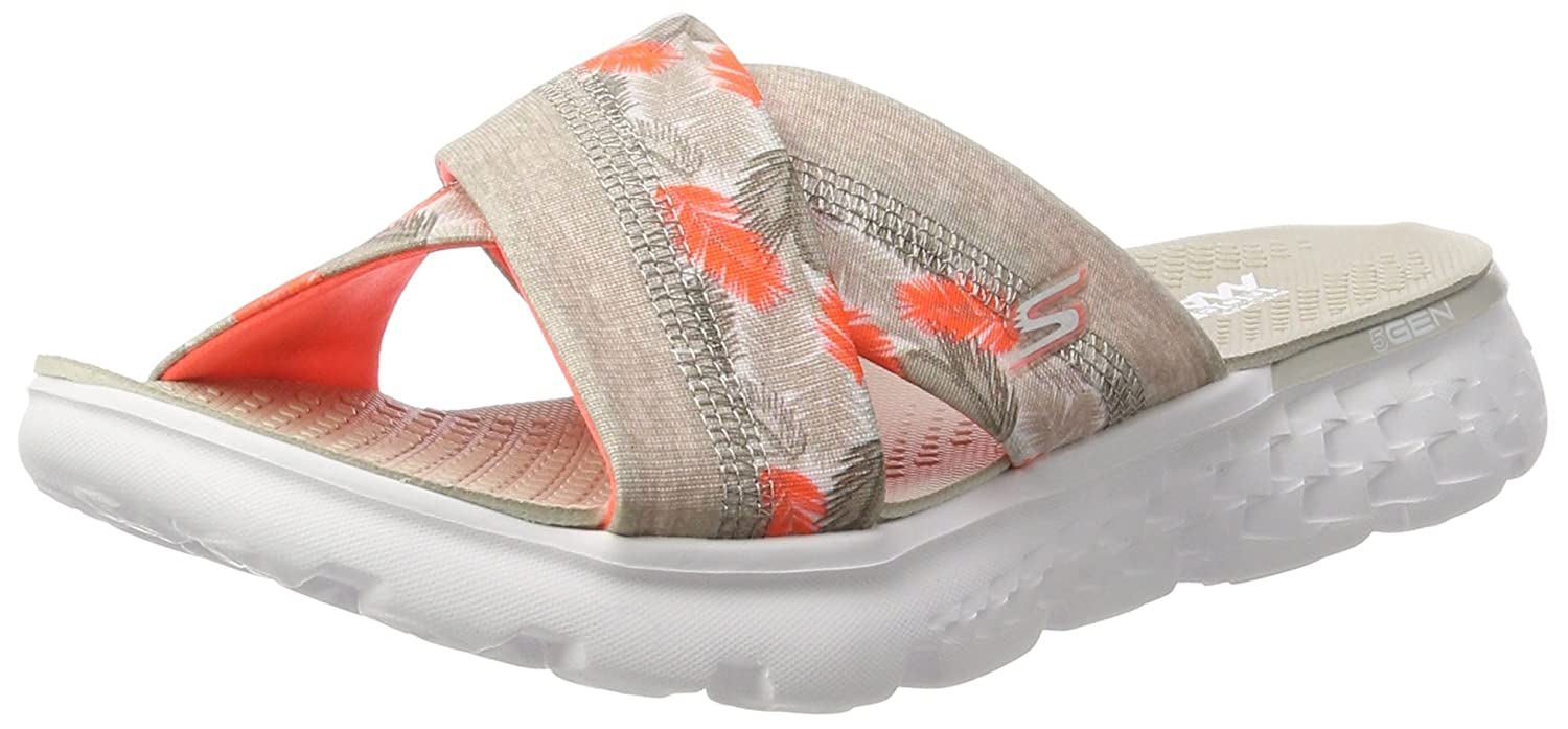 Skechers Damen on-The-Go 400-Tropical Sandalen  40 EU|Grau (Ntcl)