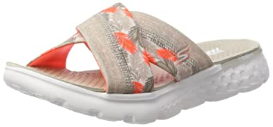 Skechers Performance Women's On The Go 400 Tropical Flip Flop, NaturalCoral Tropical, 11 M US