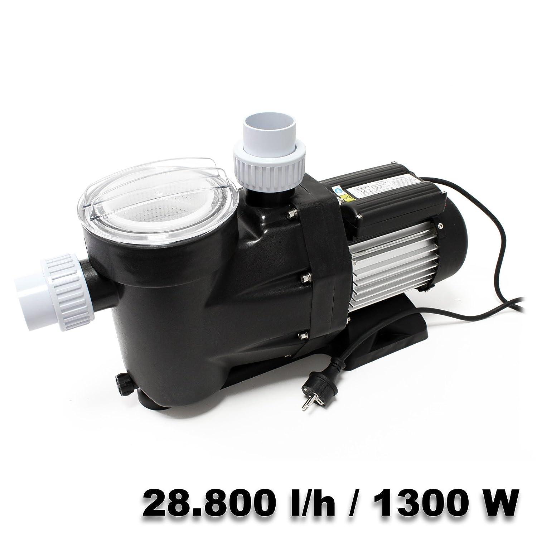 Pompe piscine 28800l/h 1300 watts Pompe filtration Circulation Eau Pool Whirlpool Jardin WilTec