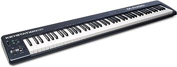 M-Audio Keystation 88 II -Teclado MIDI y controlador USB con 88 teclas semicontrapesadas sensibles a la intensidad para DAW e instrumentos virtuales, ...