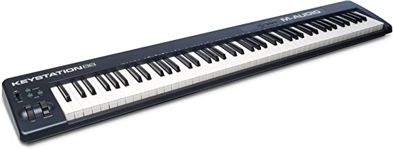 M-Audio Keystation 88 II - 88 Key USB/MIDI Keyboard Controller with Velocity-Sensitive Semi-Weighted Keys Including Production Software for Mac & PC