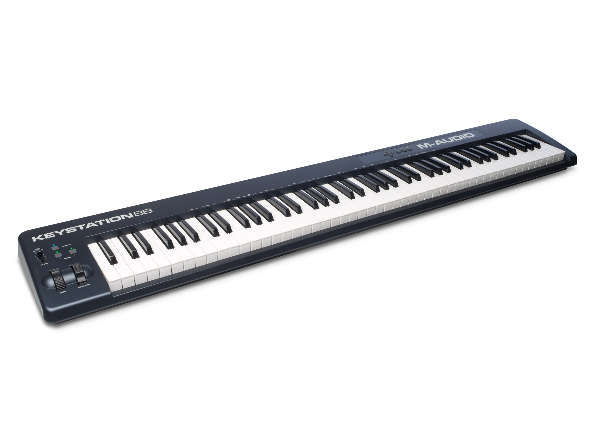 M Audio Keystation 88 II | Ultra-Portable 88 Key USB/MIDI Keyboard Controller with Synth Action Velocity Sensitive Keys Including Software from SONiVOX (Eighty Eight Ensemble) for Mac & PC by M-Audio