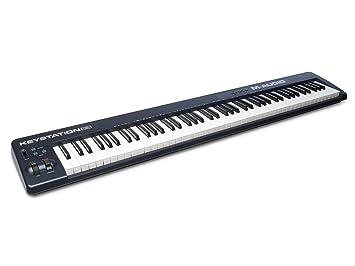 M-Audio Keystation 88 II, Portable 88-Key USB/MIDI Keyboard Controller with  Synth-Action Velocity-Sensitive Keys and Studio Software from Sonivox