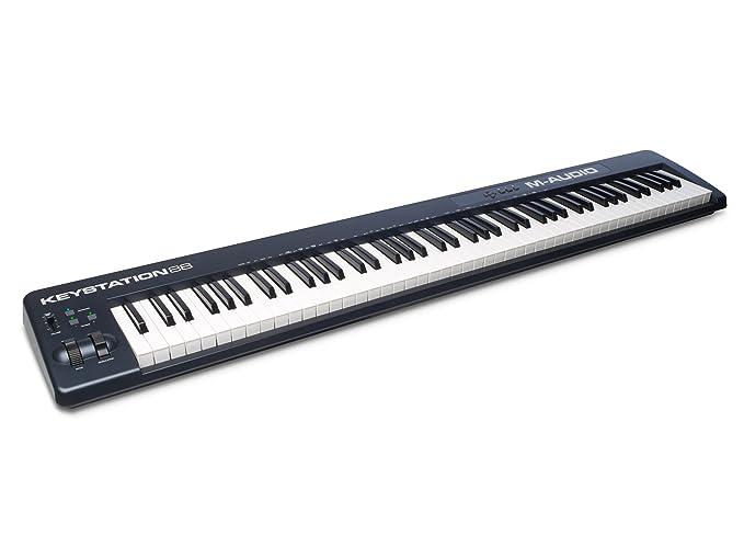 M-Audio Keystation 88 II   88-Key USB MIDI Keyboard Controller with  Pitch-Bend & Modulation Wheels