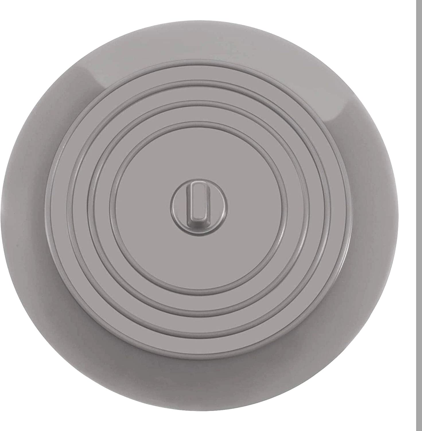 Dirt-Resistant Drain Stopper Made of Silicone Drain Plug for Bathtub with a Diameter of 13 cm Sink and Sink Your Day Mate Universal Stopper in Gray Shower for All drains up to 90 mm