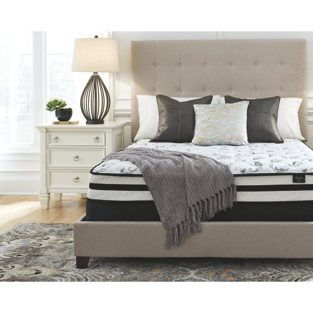 Ashley Furniture Signature Design - 8 Inch Chime Express Hybrid Innerspring Mattress - Bed in a Box - Twin- White M69511