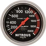 Auto Meter 3428 Sport-Comp Mechanical Nitrous Pressure Gauge,2.625 in.