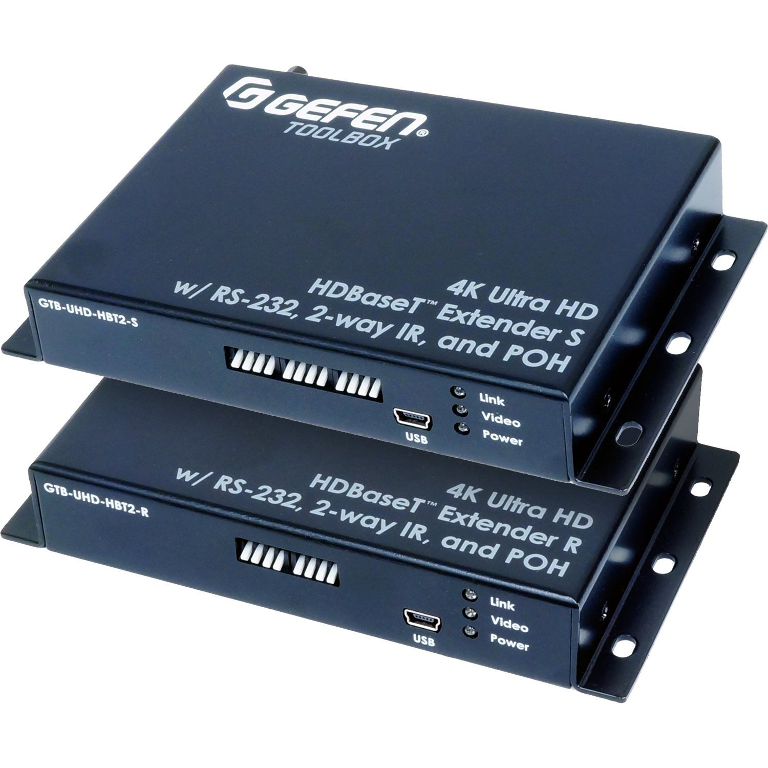 Gefen CI GTB-UHD-HBT2 4K Ultra DBase Extender with RS-232, 2-Way IR, and Pooh
