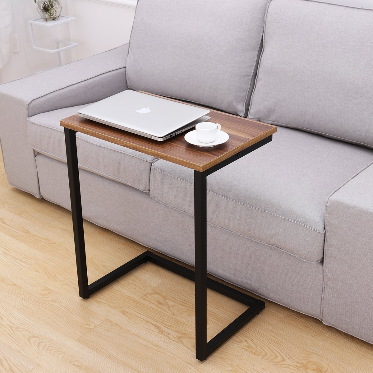 HOMEMAXS Sofa Side End Table C Table Multiple Stand 26-Inch for Small Space