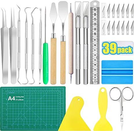 Cameos Vinyl Weeding Tools Craft Basic Set Craft Vinyl Tools Kit for Weeding Vinyl Lettering Silhouettes Dorhui 7 Pack Craft Weeding Tools Set