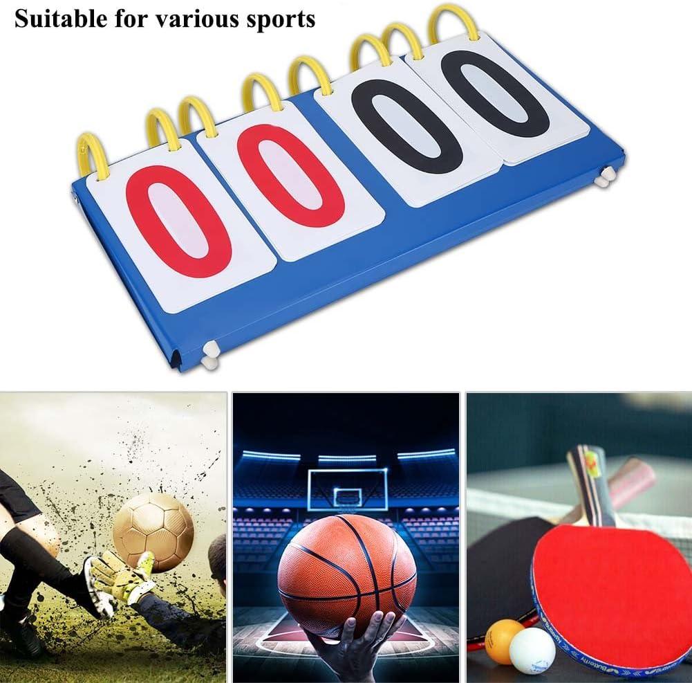Tableau de Score Sportif Tableau de Score au 3//4 Chiffre Conuter pour Volley-Ball//Basket-Ball//Tennis de Table//Football Sports Tableau Scoreboard