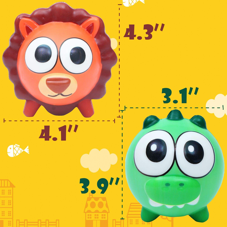 AOLIGE Squishies Slow Rising Kawaii Pig Cat Shark Fish Squishy Animals Toys Pack of 5 MiaoZhen