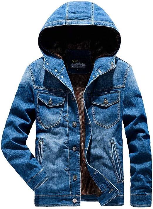 Tasahaya デニムジャケット メンズ コート ジージャン ジーンズ ジャケット フード付き 作業着 春秋服 カジュアル