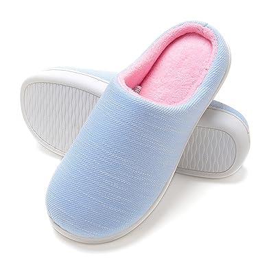 Zapatillas de Casa de Mujer Invierno - Zapatillas Casa Ultraligero Cómodo y Antideslizante, Zapatilla de Estar por Casa para Mujer Fluff Antideslizantes: ...